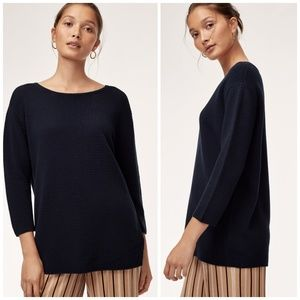 Aritzia wilfred sz XS ribbed silk cashmere sweater